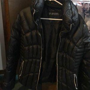 Black Guess puffy jacket